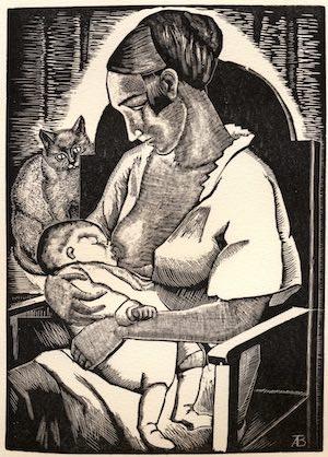 maternidad de angelina beloff
