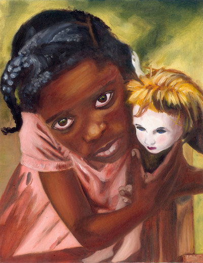 ojos azules niña